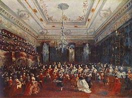 Francesco Guardi   Venetian GalaConcert in the Sala dei Filarmonici   Giclée Canvas Print