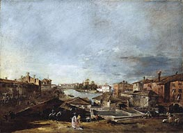 Francesco Guardi | View of Dolo on the Brenta | Giclée Canvas Print