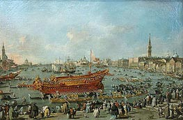 Francesco Guardi | The Bucentaur Departs for the Lido of Venice, on Ascension Day | Giclée Canvas Print