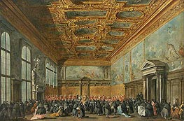 Francesco Guardi | The Doge of Venice Grants an Audience in the Sala del Collegio in the Ducal Palace | Giclée Canvas Print