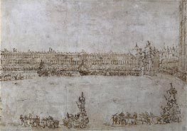 Francesco Guardi | A Procession of Triumphal Cars in Piazza San Marco, Venice, Celebrating the Visit of Archduke Paul and Archduchess Maria Feodorovna of Russia, 1782 | Giclée Paper Print