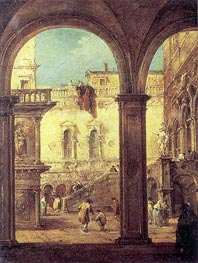 Francesco Guardi | Capriccio with the courtyard of the Doge's Palace, c.1770 | Giclée Canvas Print