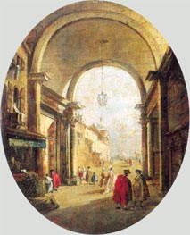 Francesco Guardi | Capriccio with the Archway of the Torre dell'Orologio, a.1780 | Giclée Canvas Print