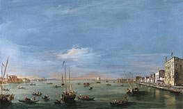 Francesco Guardi | View of the Giudecca Canal and the Zattere, c.1757/58 | Giclée Canvas Print