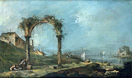 Francesco Guardi | View of a Ruined Arch and the Venice Lagoon, c.1770/75 | Giclée Canvas Print