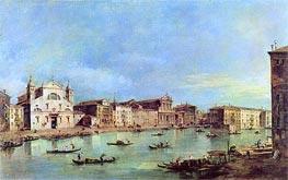 Francesco Guardi | View of Canal Grande with Santa Lucia and Santa Maria di Nazareth, c.1780 | Giclée Canvas Print