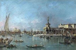 Francesco Guardi | Venice: the Punta della Dogana with the Giudecca and the Redontore Beyond | Giclée Canvas Print