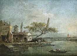 Francesco Guardi | A View of the Island of Anconetta with the Torre di Marghera Beyond | Giclée Canvas Print