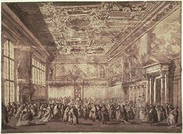 Francesco Guardi | The Doge of Venice Receiving Ambassadors in the Sala dei Collegio, undated | Giclée Paper Print