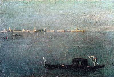 Francesco Guardi | Gondola on the Lagoon, c.1793 | Giclée Canvas Print