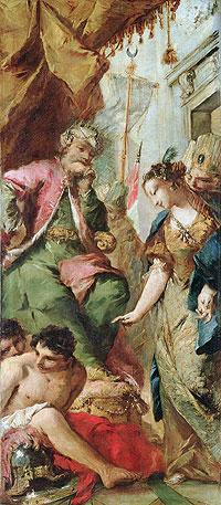 Sophronia Asking the Saracen King Aladine to Release the Christian Prisoners, c.1760 | Francesco Guardi | Painting Reproduction