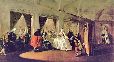 The Parlour of the San Zaccaria Convent, Undated   Francesco Guardi   Painting Reproduction