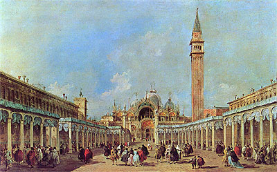 The Festival at Piazza San Marco, undated   Francesco Guardi   Painting Reproduction