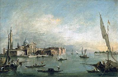 A View of the Bacino di San Marco with San Giorgio Maggiore and the Punta della Giudecca, c.1785 | Francesco Guardi | Painting Reproduction