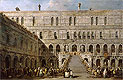 Guardi - The Coronation of the Doge of Venice on the Scala dei Giganti of the Palazzo Ducale - Art Print / Posters