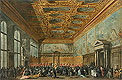 Guardi - The Doge of Venice Grants an Audience in the Sala del Collegio in the Ducal Palace - Art Print / Posters