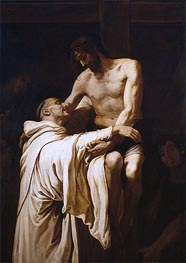 Francisco Ribalta | Christ Embracing Saint Bernard, c.1626 | Giclée Canvas Print
