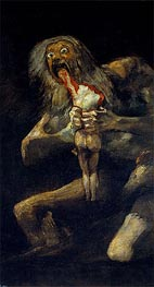 Goya | Saturn Devouring one of His Sons, c.1821/23 | Giclée Canvas Print