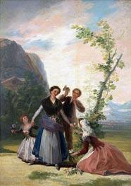 Goya   The Flower Girls or Spring, 1786   Giclée Canvas Print