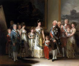 The Family of Carlos IV, 1800 by Goya | Giclée Canvas Print