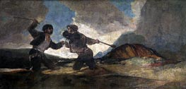 Goya | Fight to the Death with Clubs, c.1820/23 | Giclée Canvas Print