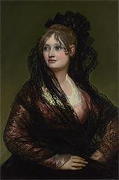 Dona Isabel de Porcel, b.1805 by Goya | Giclée Canvas Print