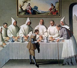 Zurbaran | St. Hugh of Cluny in the Refectory of the Carthusians | Giclée Canvas Print