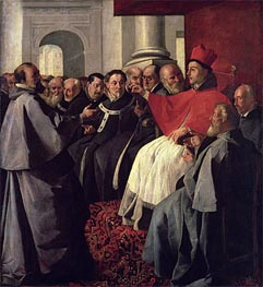 Zurbaran | St. Bonaventure at the Council of Lyons in 1274 | Giclée Canvas Print