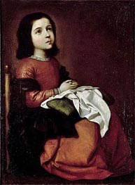 Zurbaran | The Childhood of the Virgin, c.1660 | Giclée Canvas Print