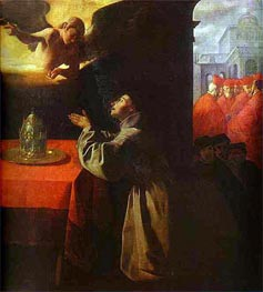 Zurbaran | St Bonaventura in Prayer, 1629 | Giclée Canvas Print