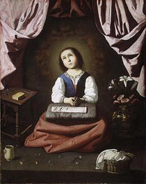 Zurbaran | The Young Virgin, c.1632/33 | Giclée Canvas Print