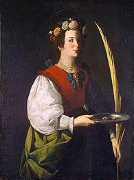 Zurbaran | Saint Lucy, c.1625/30 | Giclée Canvas Print