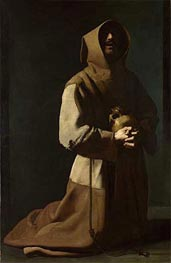 Zurbaran | Saint Francis in Meditation, c.1635/39 | Giclée Canvas Print
