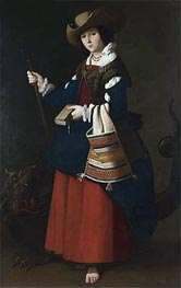 Zurbaran | Saint Margaret of Antioch, c.1630/34 | Giclée Canvas Print
