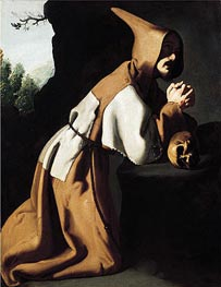 Zurbaran | Saint Francis in Prayer, c.1638/39 | Giclée Canvas Print