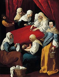 Zurbaran | The Birth of the Virgin, c.1627 | Giclée Canvas Print