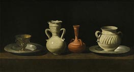 Still Life with Vessels, c.1650 by Zurbaran | Giclée Canvas Print