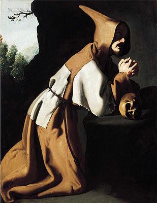 Saint Francis in Prayer, c.1638/39 | Zurbaran | Painting Reproduction