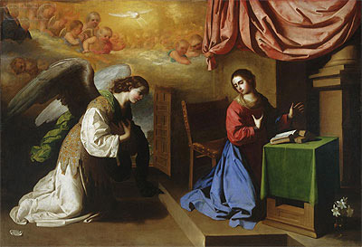 The Annunciation, 1650 | Zurbaran | Painting Reproduction