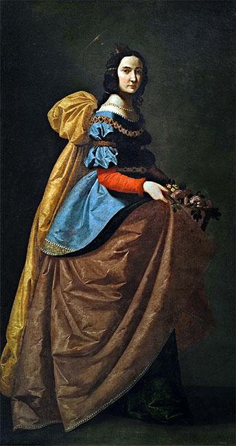Saint Elisabeth of Portugal, c.1635   Zurbaran   Painting Reproduction