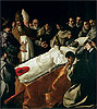 Zurbaran - The Exhibition of the Body of St. Bonaventure - Art Print / Posters
