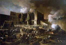 François-Joseph Heim | Siege of Burgos Castle, 1813 | Giclée Canvas Print