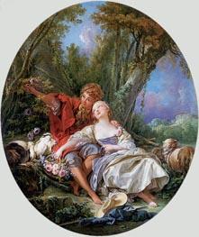 Boucher | Shepherd and Shepherdess Reposing (The School of Love) | Giclée Canvas Print