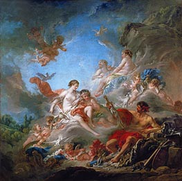 Vulcan Presents to Venus the Armour for Aeneas, 1757 by Boucher | Giclée Canvas Print