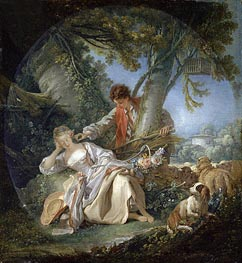 The Interrupted Sleep, 1750 by Boucher | Giclée Canvas Print