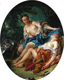 Companions of Diana, 1745 by Boucher | Giclée Canvas Print