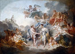 Marriage of Cupid and Psyche, 1744 by Boucher | Giclée Canvas Print