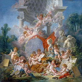 Geniuses of the Arts, 1761 by Boucher | Giclée Canvas Print