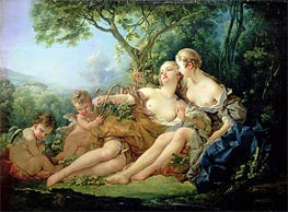 Bacchus and Erigone, 1745 by Boucher | Giclée Canvas Print