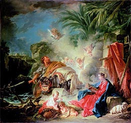 Boucher | Rest on the Flight in to Egypt | Giclée Canvas Print